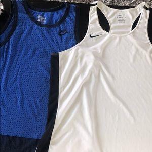Lot of Two Men's Nike Tank Tops